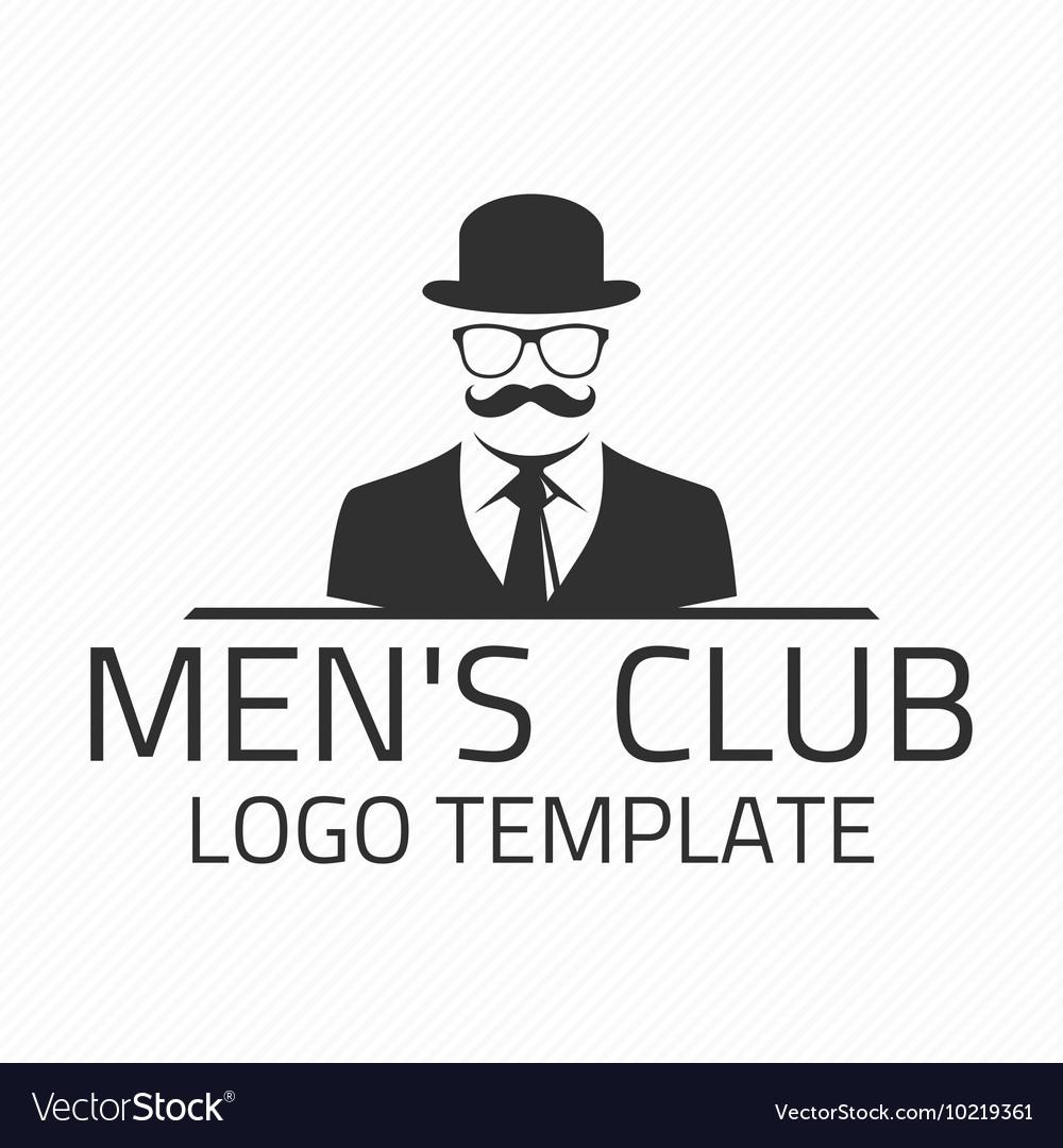 a5a163b9169 Men club logo Royalty Free Vector Image - VectorStock