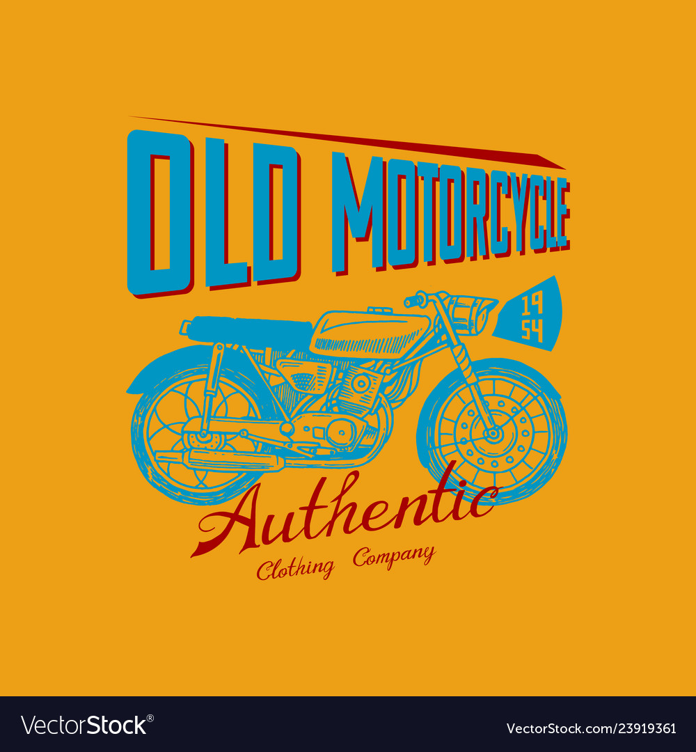 Motorcycle bike for t-shirt vintage transport