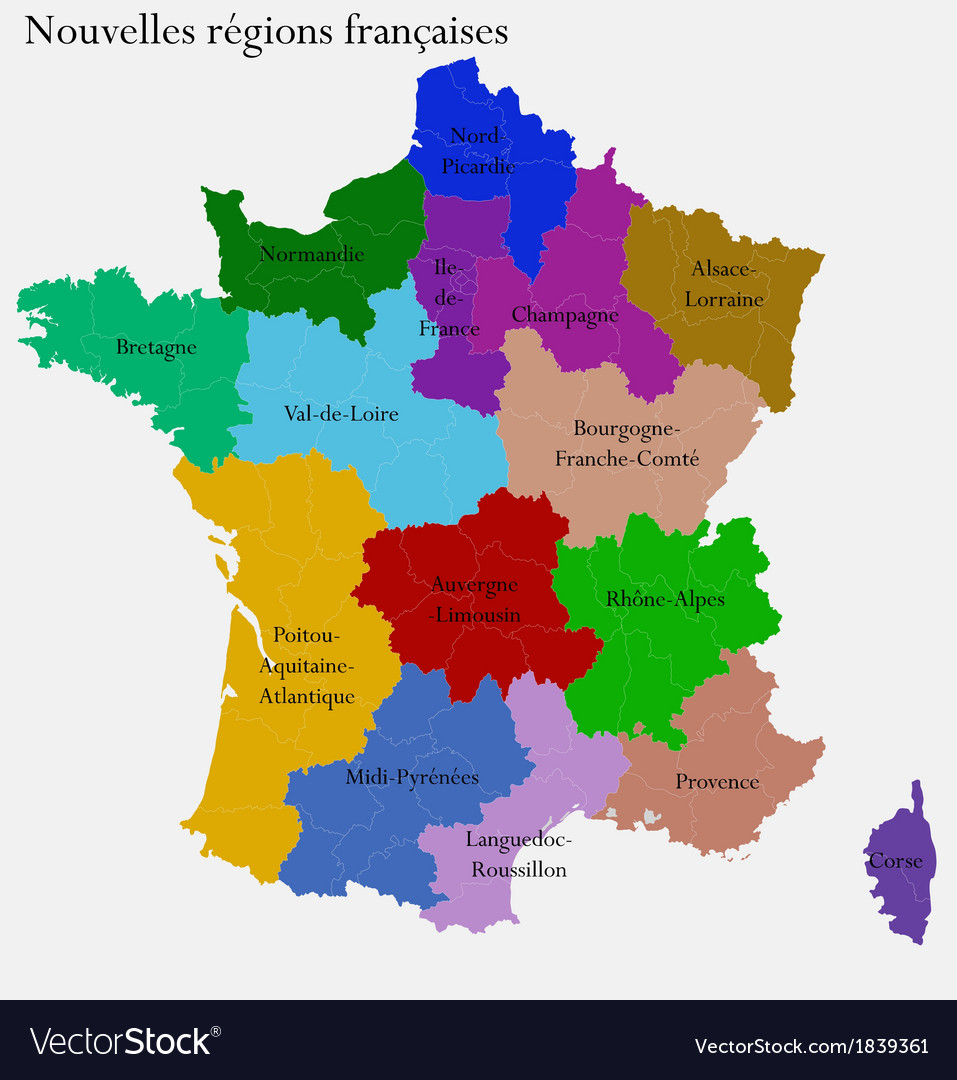 Image of: New French Regions Royalty Free Vector Image Vectorstock