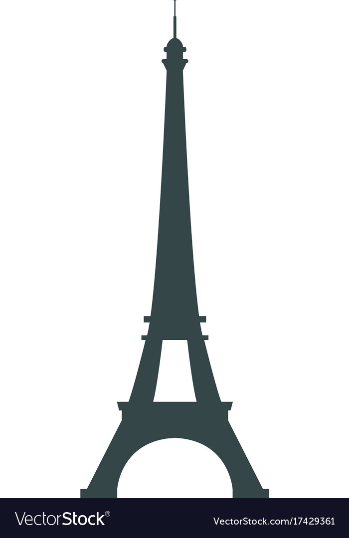 Paris france eiffel tower icon isolated
