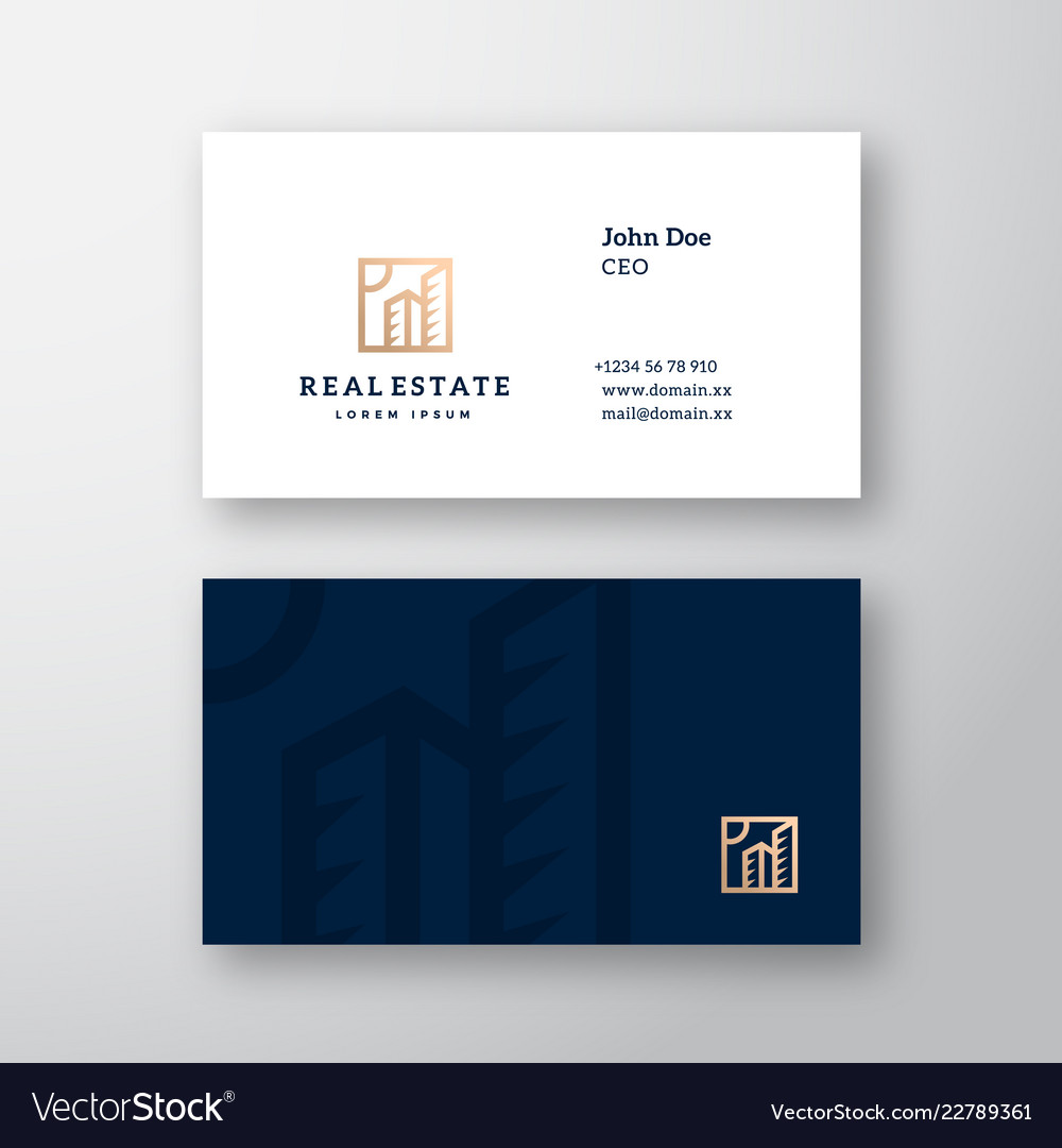 Real estate abstract elegant logo and
