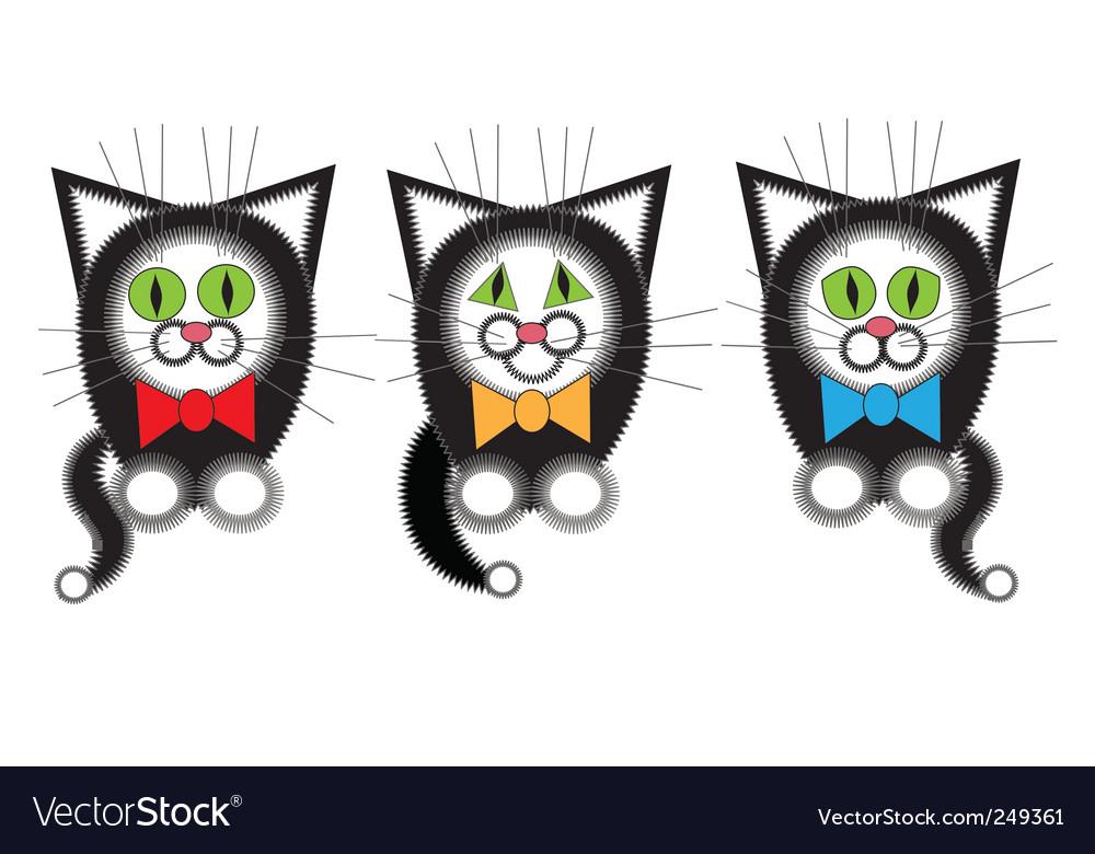 Three cat musician