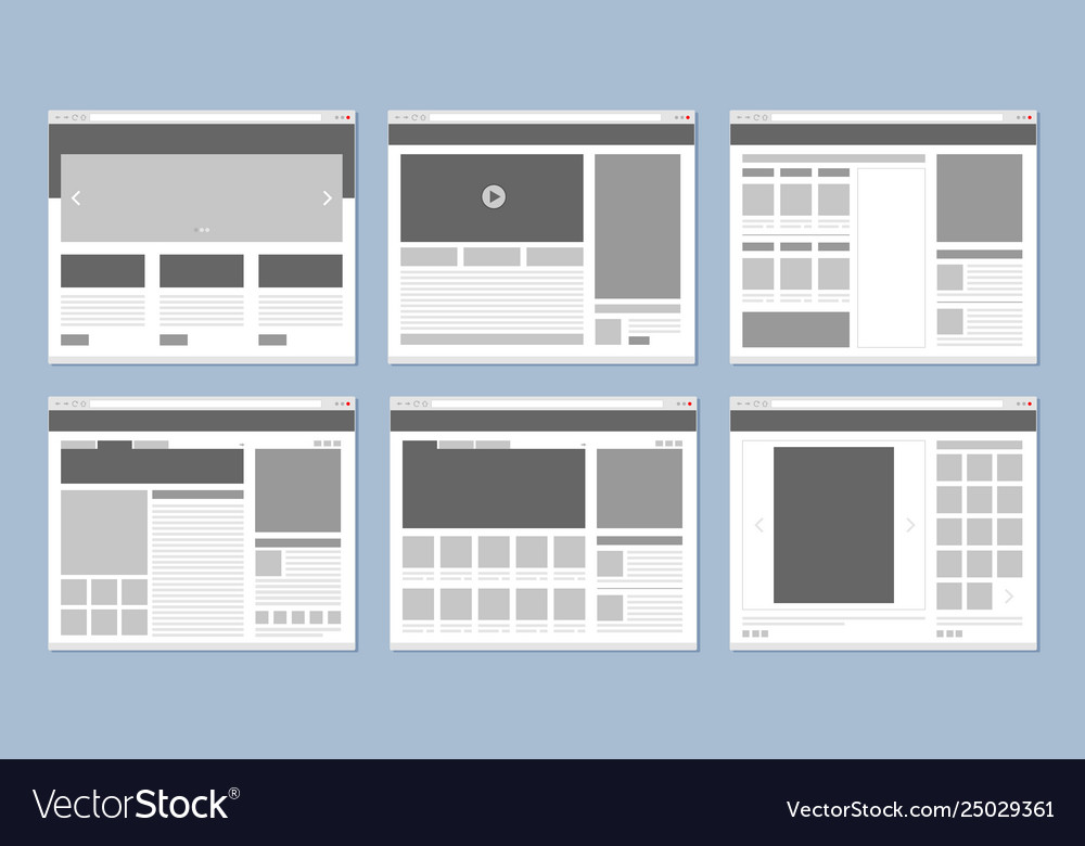 Website layout web pages template internet