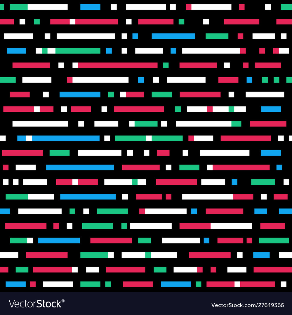 Abstract seamless pattern different color lines