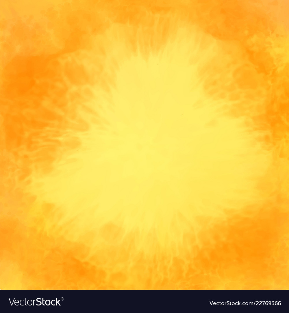 Abstract yellow watercolor texture background
