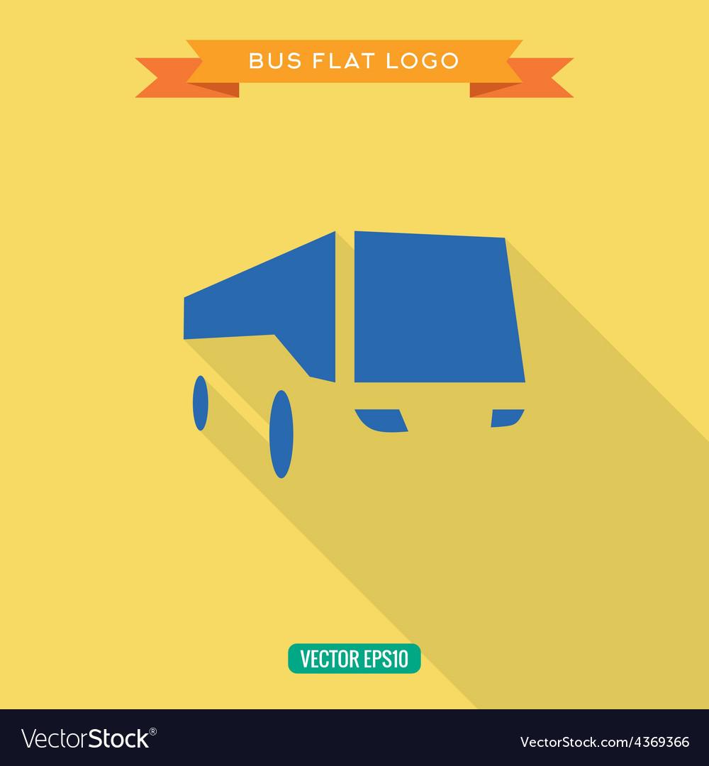 Bus Flat style Icon Set logo