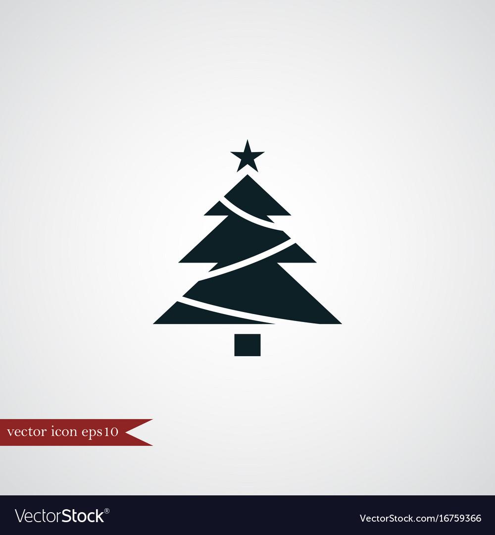 Christmas tree icon simple