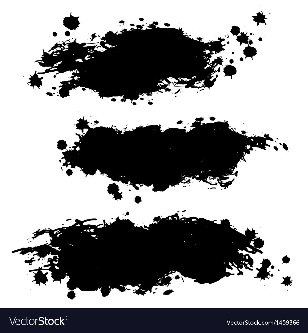 collection of paint splash royalty free vector image rh vectorstock com paint splash vector free paint splash vector free