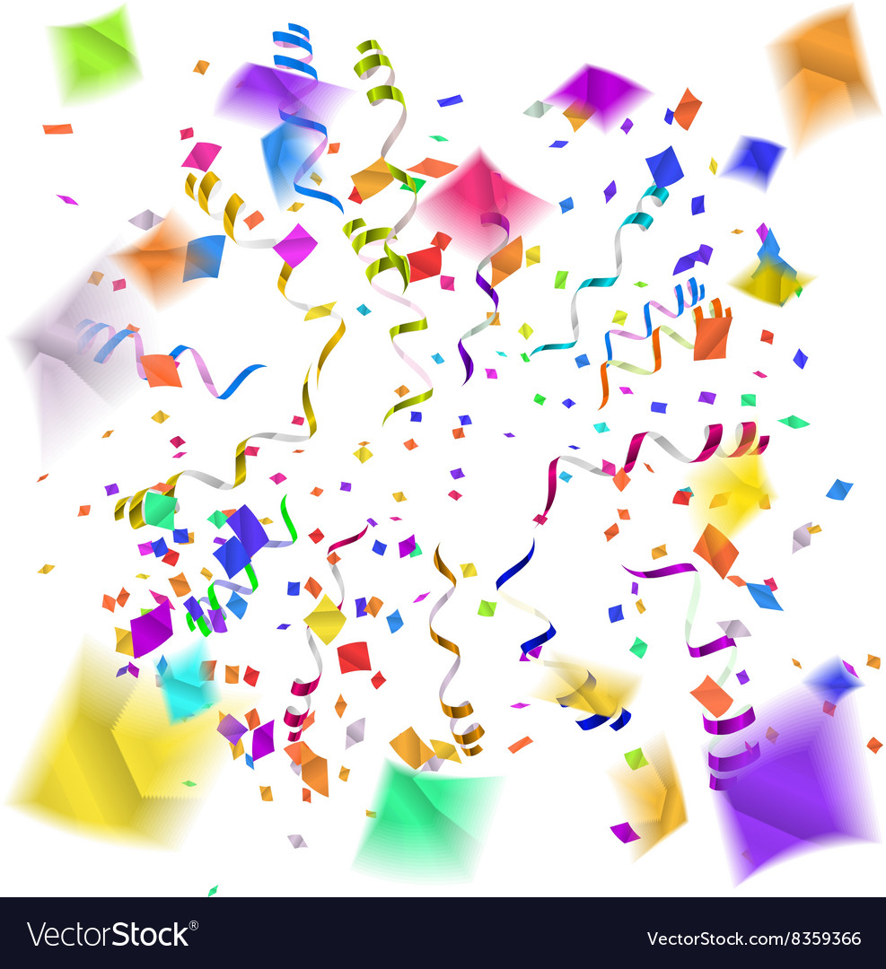 confetti blast in different directions royalty free vector