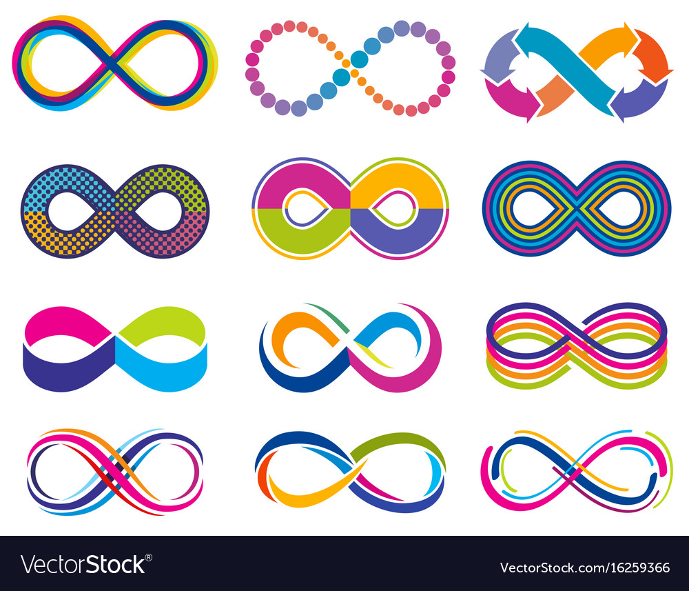 Endless mobius loop infinity concept vector image