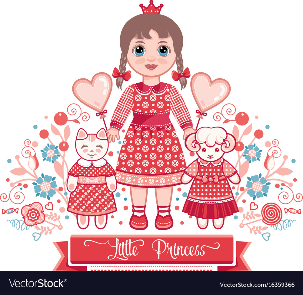 Happy birthday - greetings card for girl