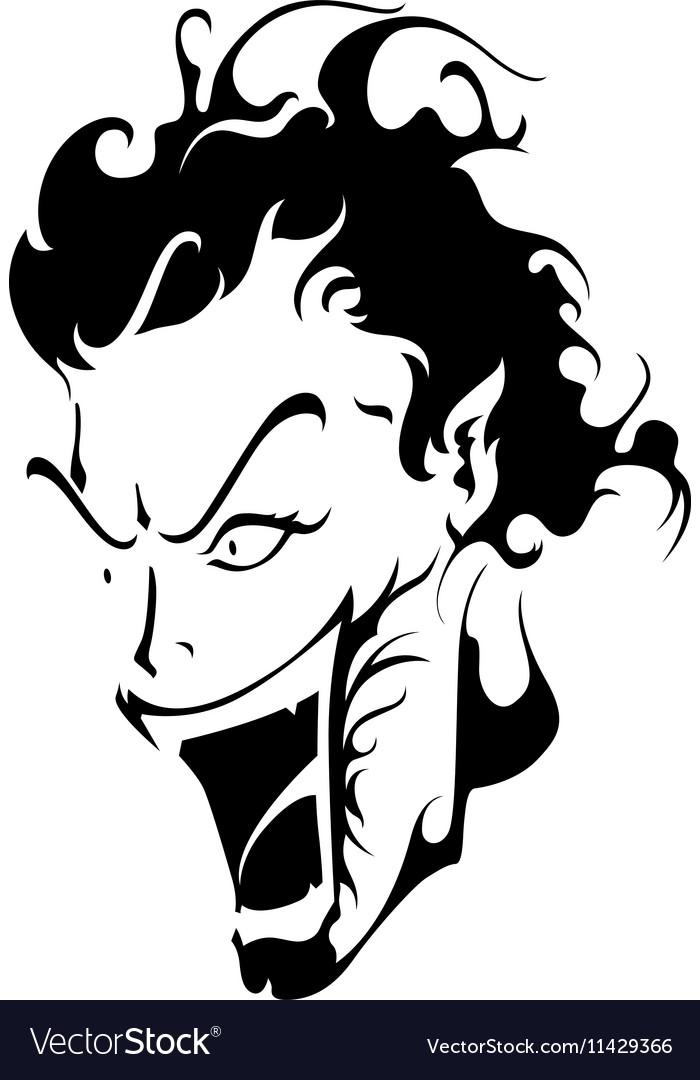Joker Laugh vector image