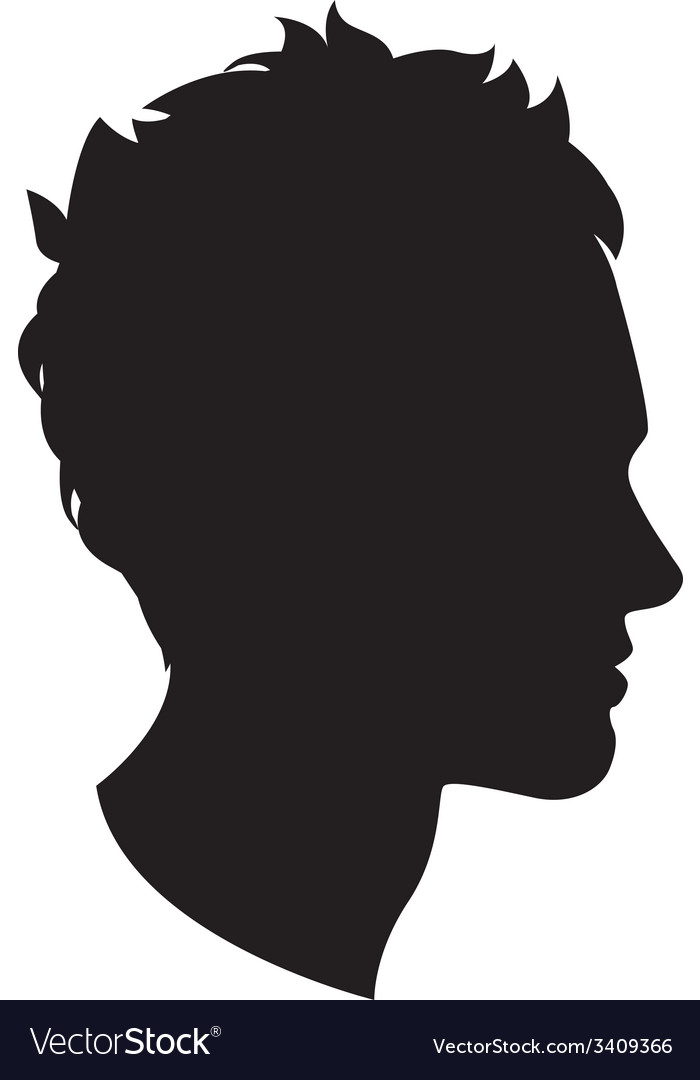 man head silhouette royalty free vector image vectorstock rh vectorstock com cat head silhouette vector human head silhouette vector
