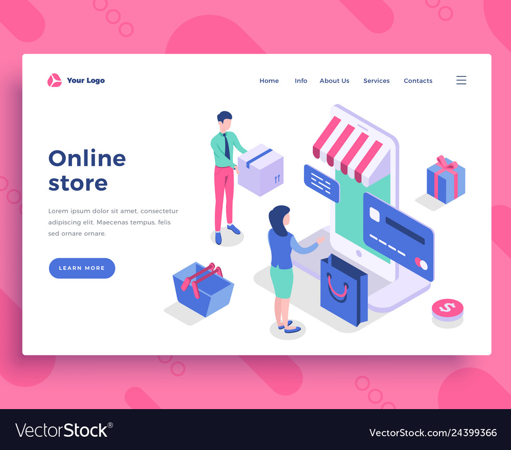 Online store concept people interact with mobile