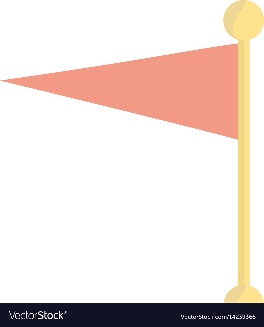Pole flag banner decoration icon