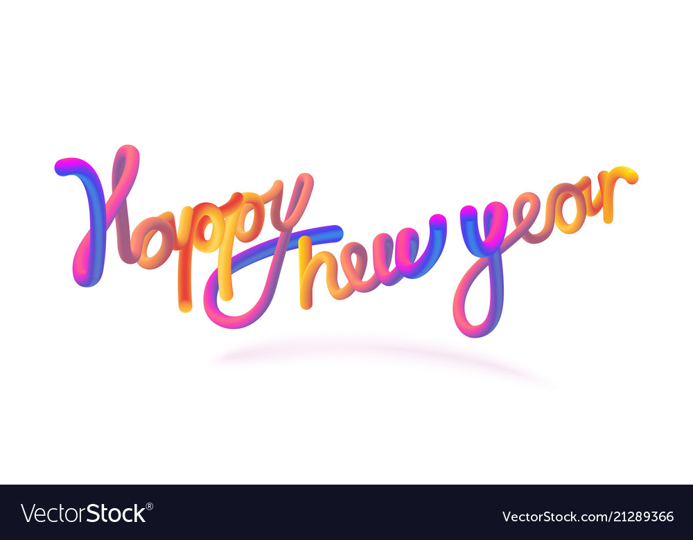 Stock happy new year font with
