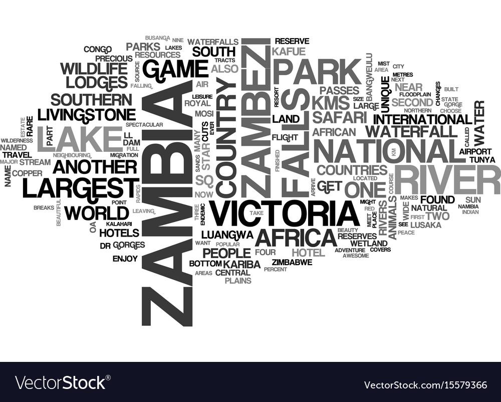 What makes zambia safari unique text word cloud
