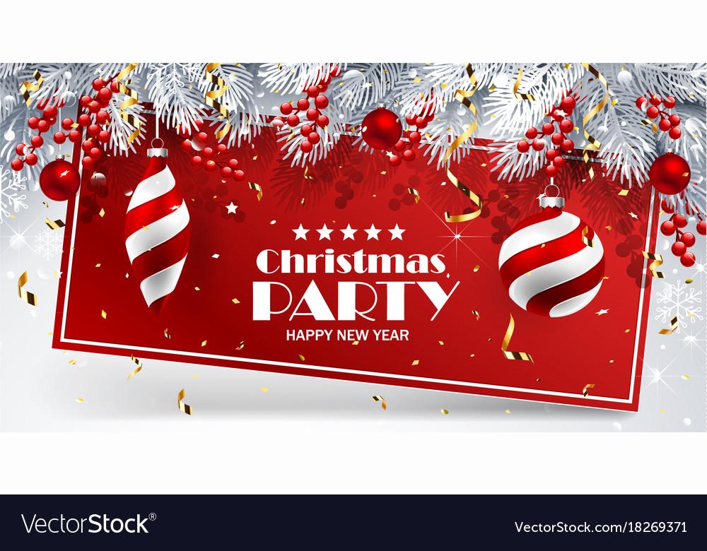 Christmas card with balls