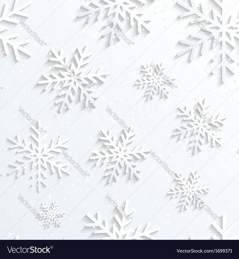 Christmas Snowflake White Background vector image