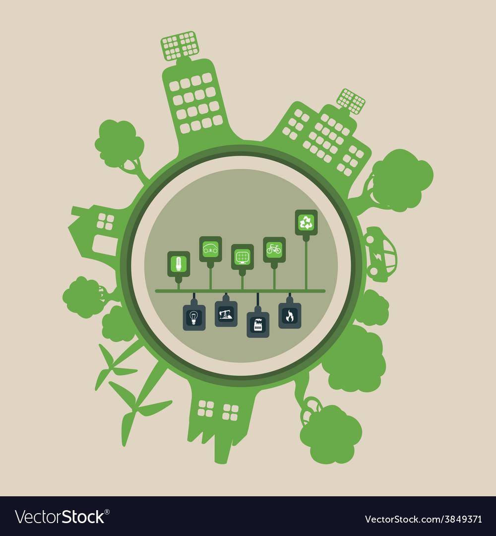 Ecoconcept eco concept royalty free vector image - vectorstock
