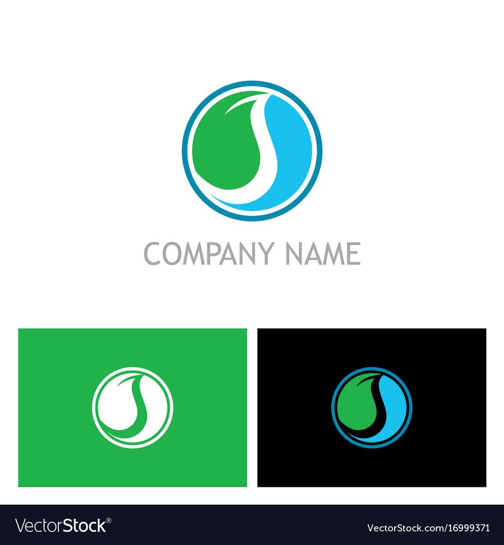 Ecology abstract round company logo