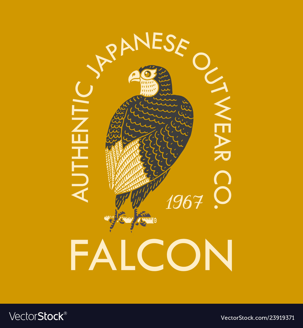 Falcon logo for t-shirt eagle or wild bird
