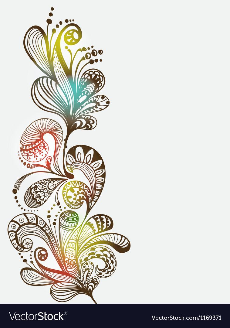 Floral vertical ornament vector image