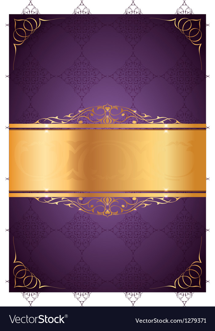 Little Frames On Purple Background Royalty Free Vector Image