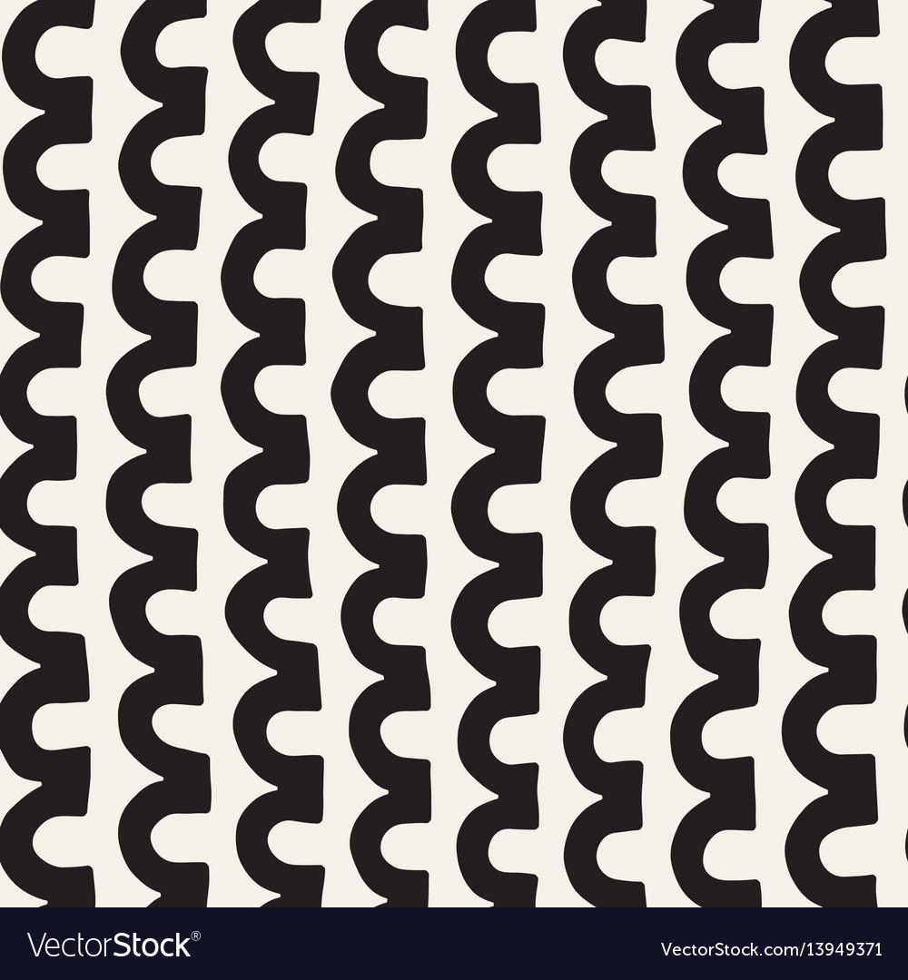 Monochrome minimalistic tribal seamless pattern