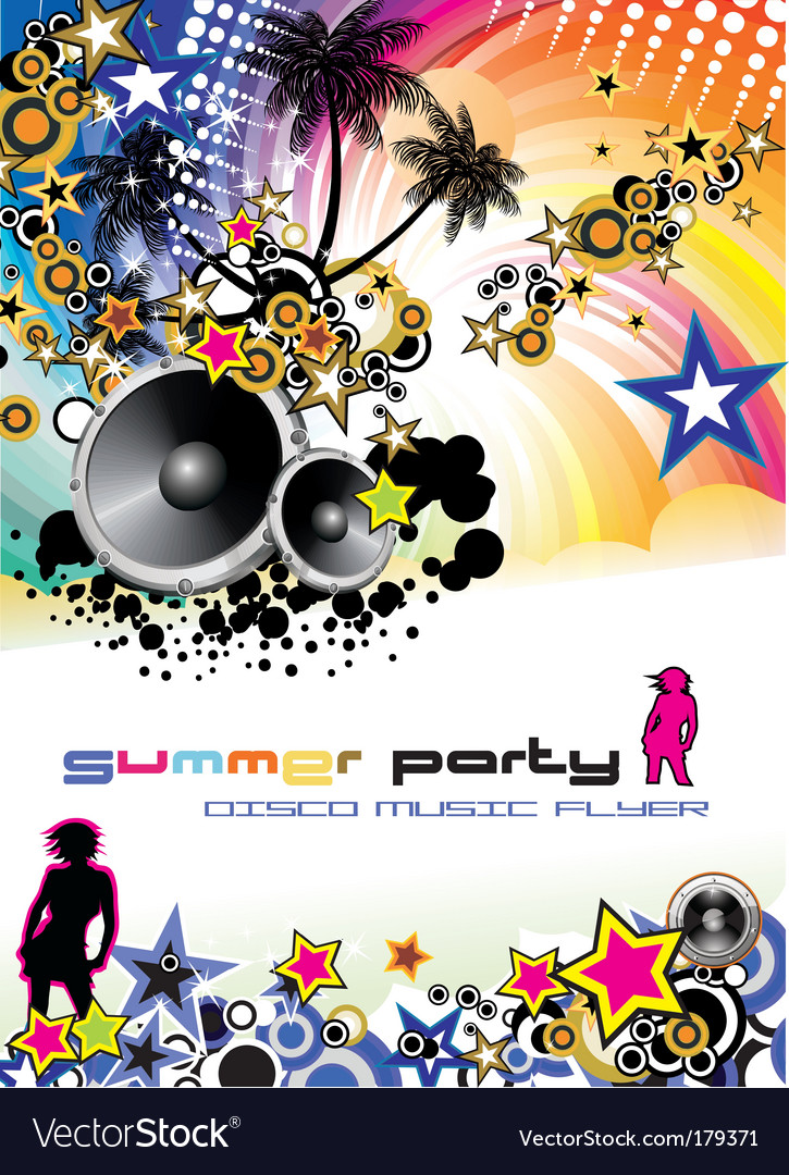 Music event discotheque Dj flyer vector image