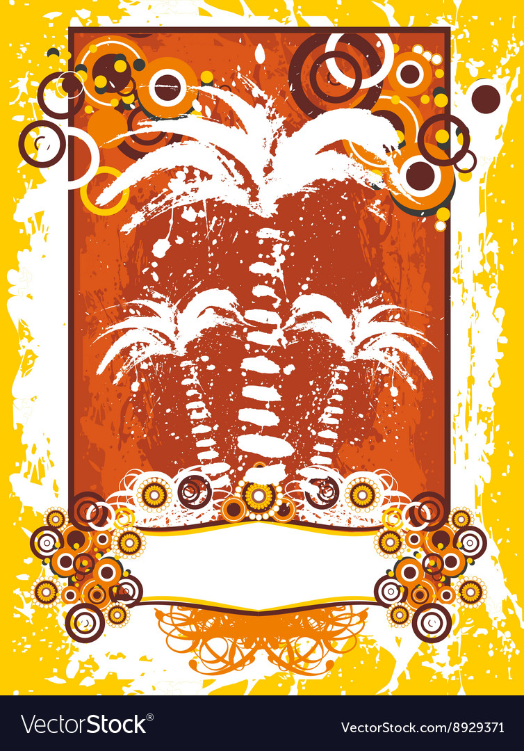 Summer with palms background