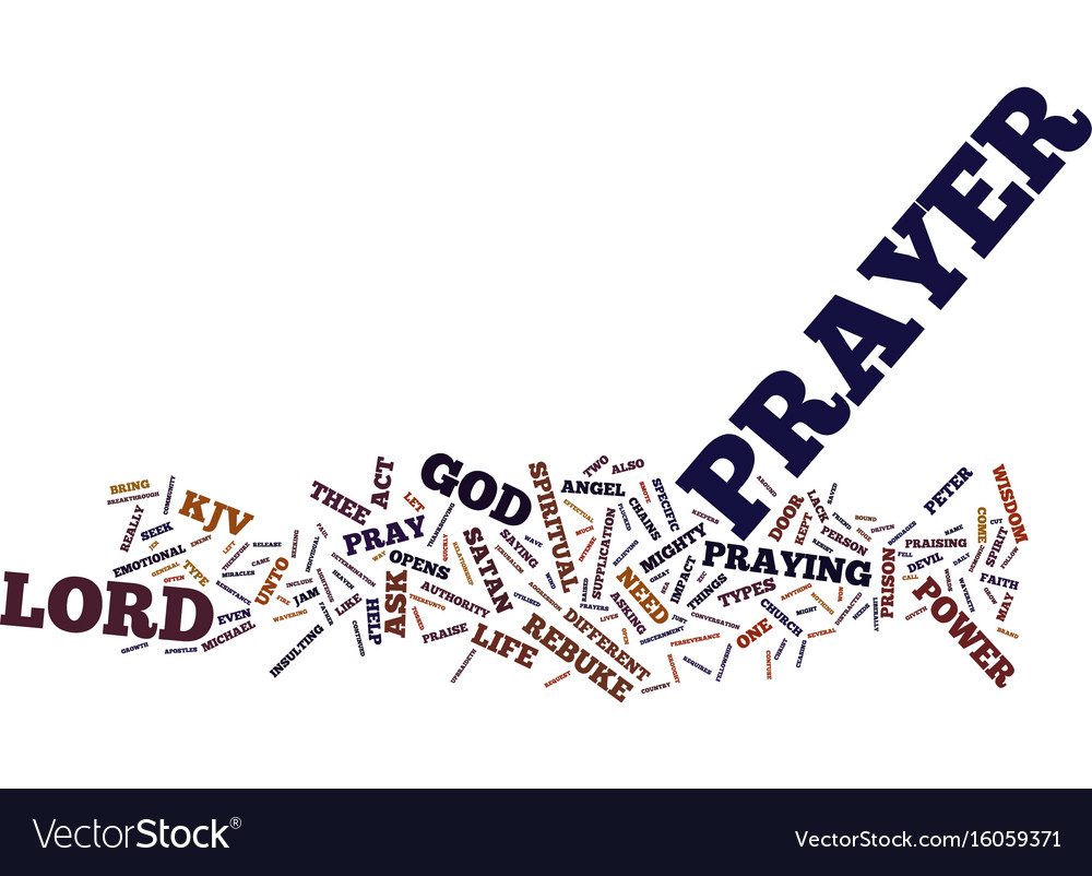 The power of prayer text background word cloud