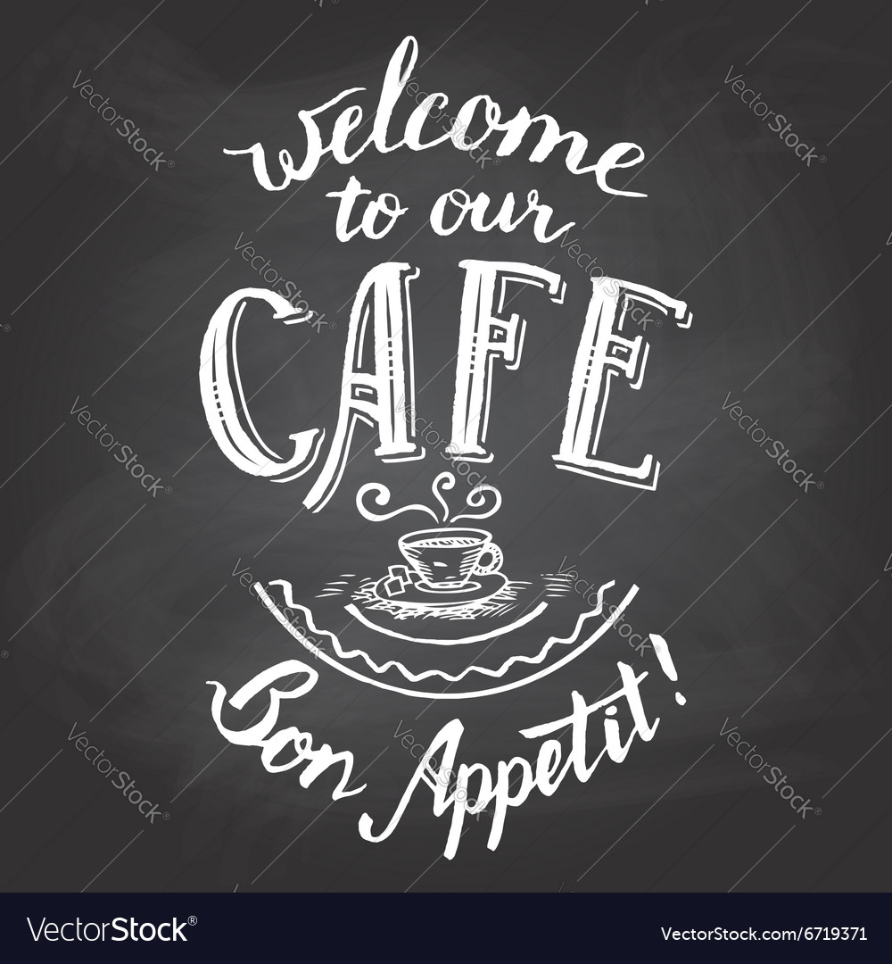 photo about Chalkboard Printable known as Welcome in direction of our restaurant chalkboard printable
