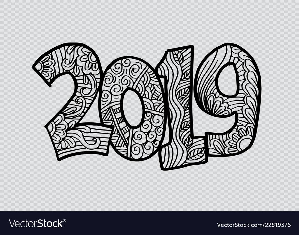 2019 hand lettering for card poster banner