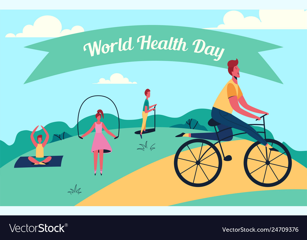 Colorful of world health day