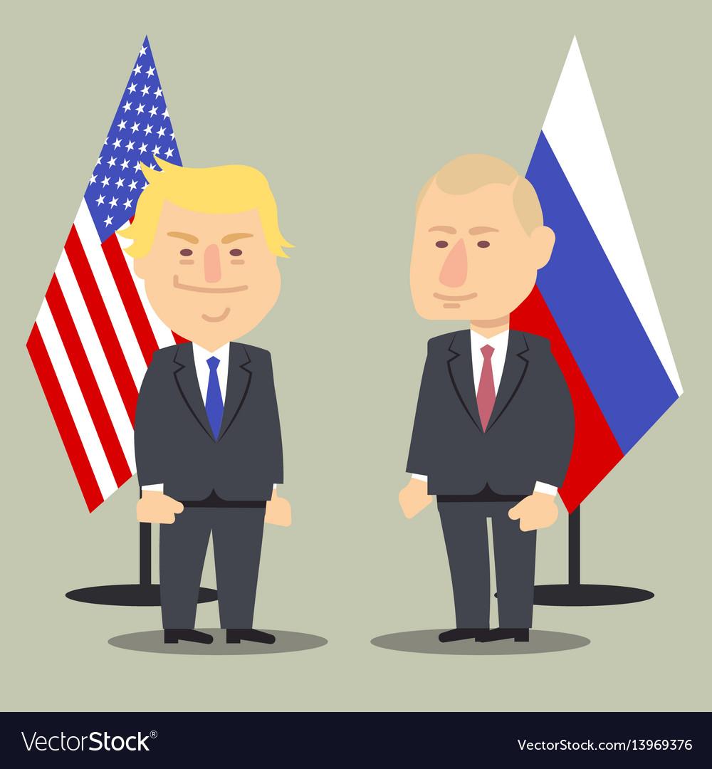 Donald trump and vladimir putin standing together