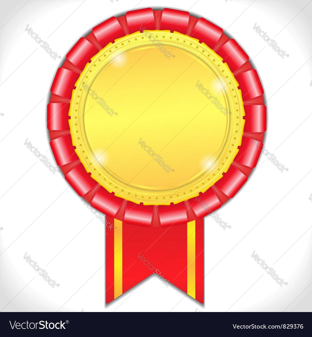 Golden medal vector image