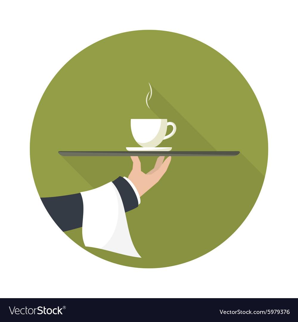 Green tea on a tray