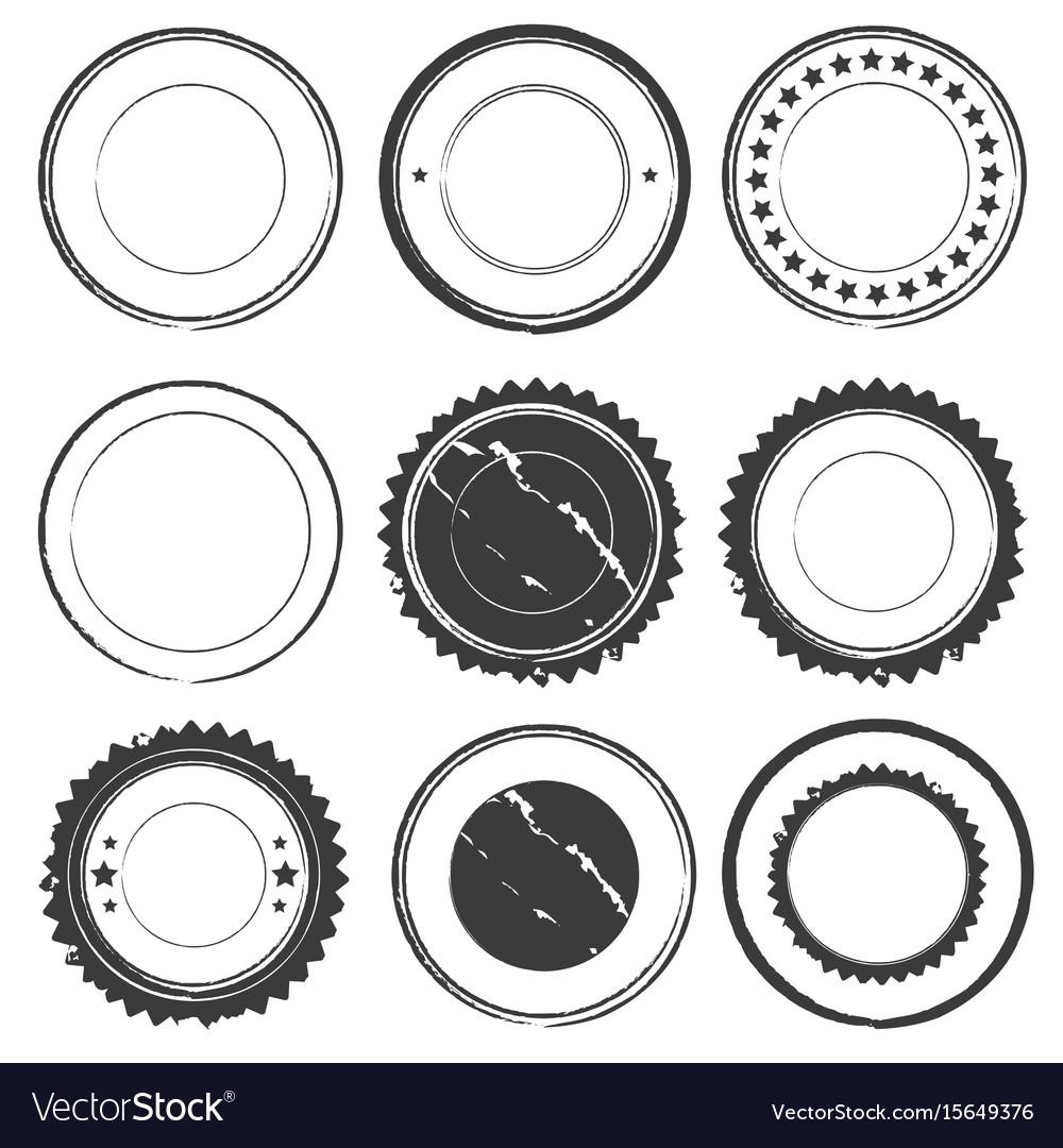 Grunge rubber set color design vector image