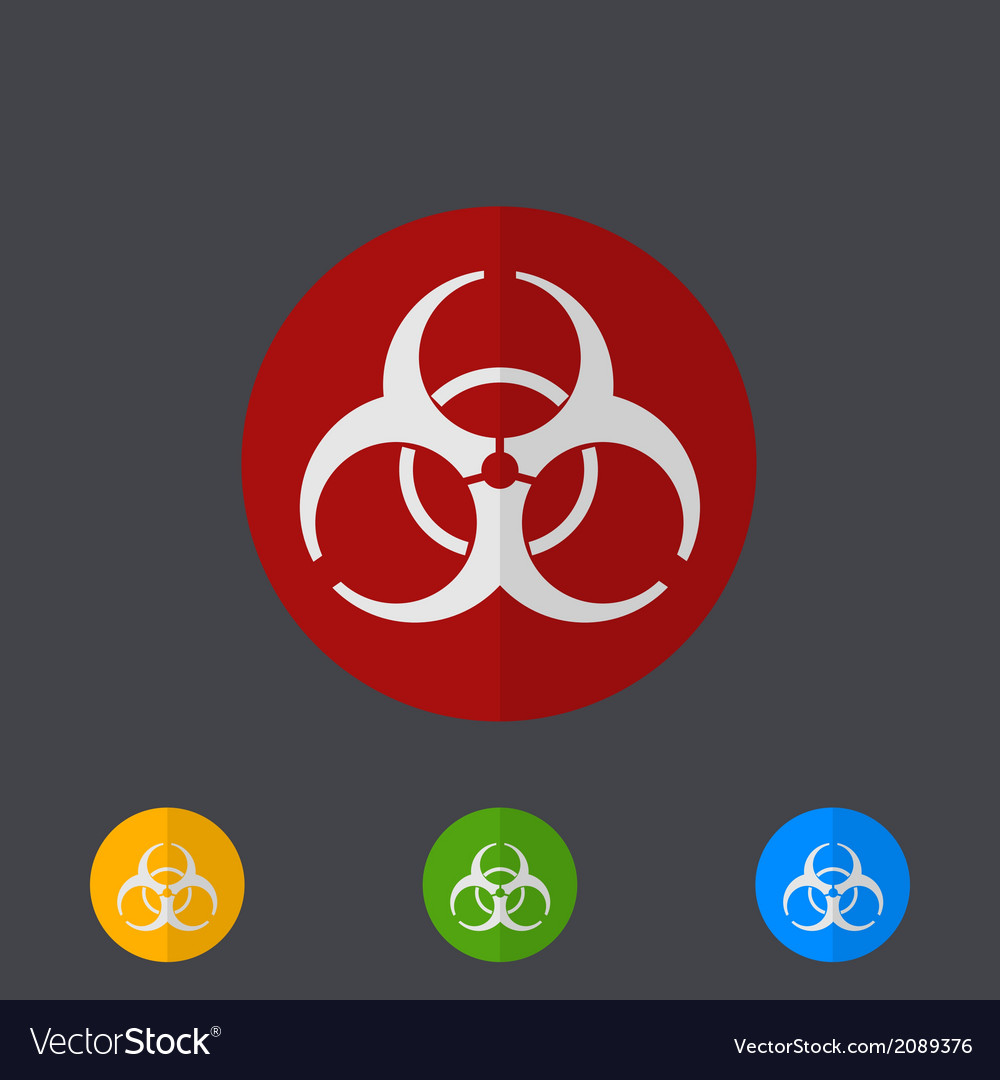 Modern circle icons set on gray