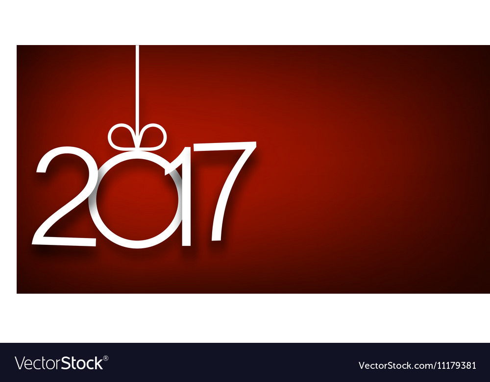 2017 New Year red background