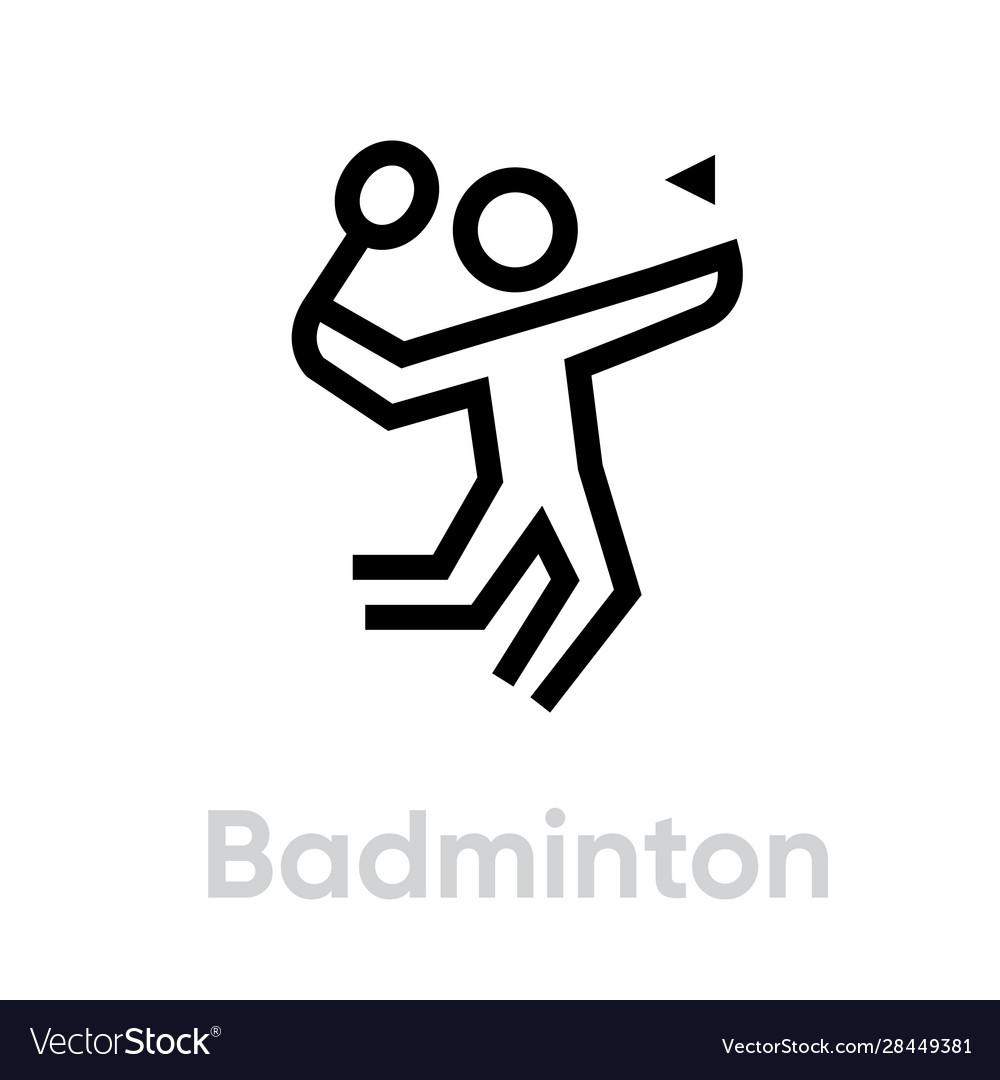 Badminton sport icons