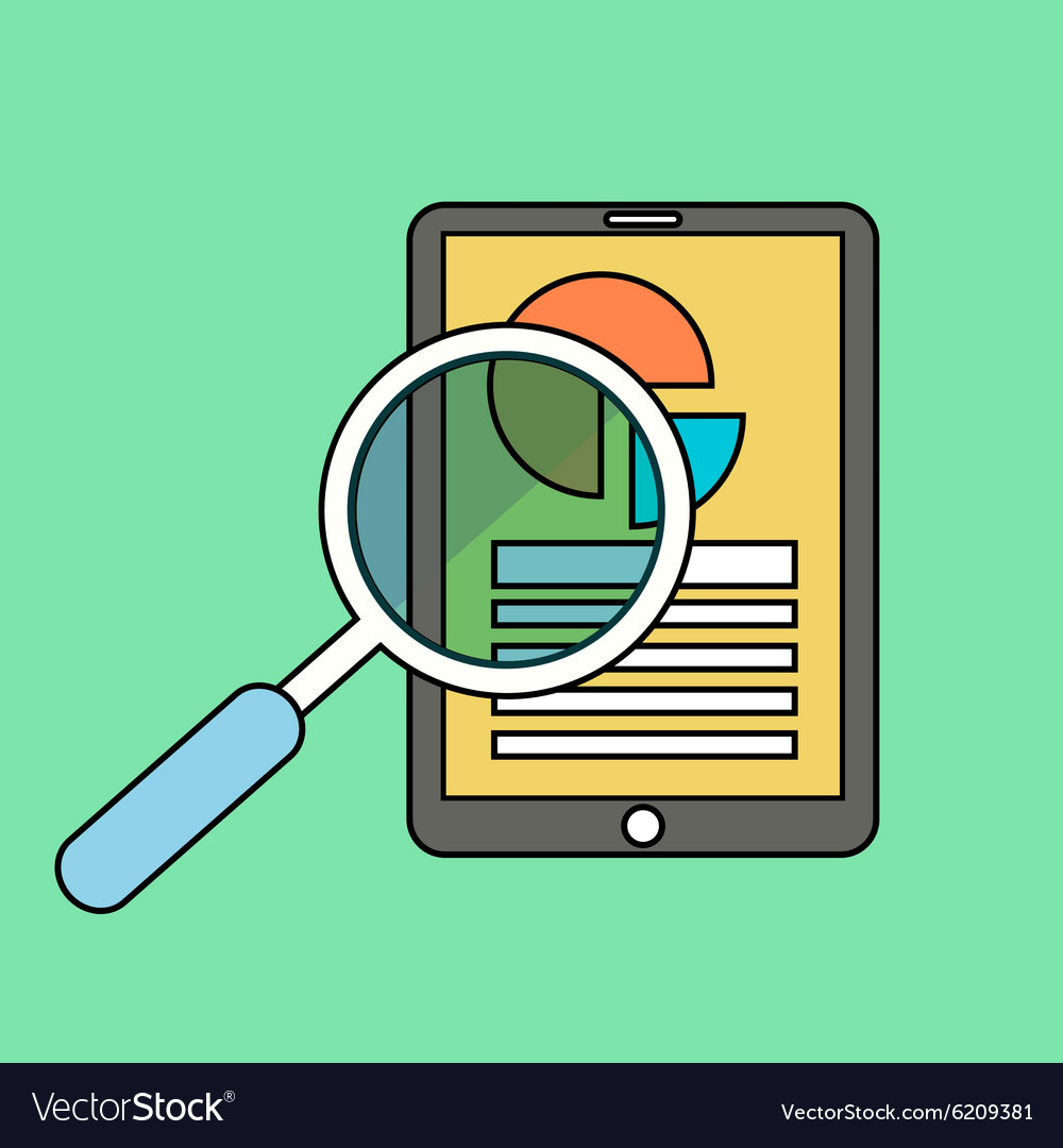 Color line flat of web analytics information and