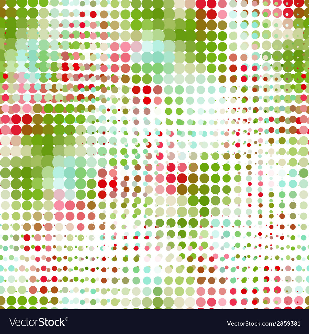 Disco seamless pattern of halftone dots in retro