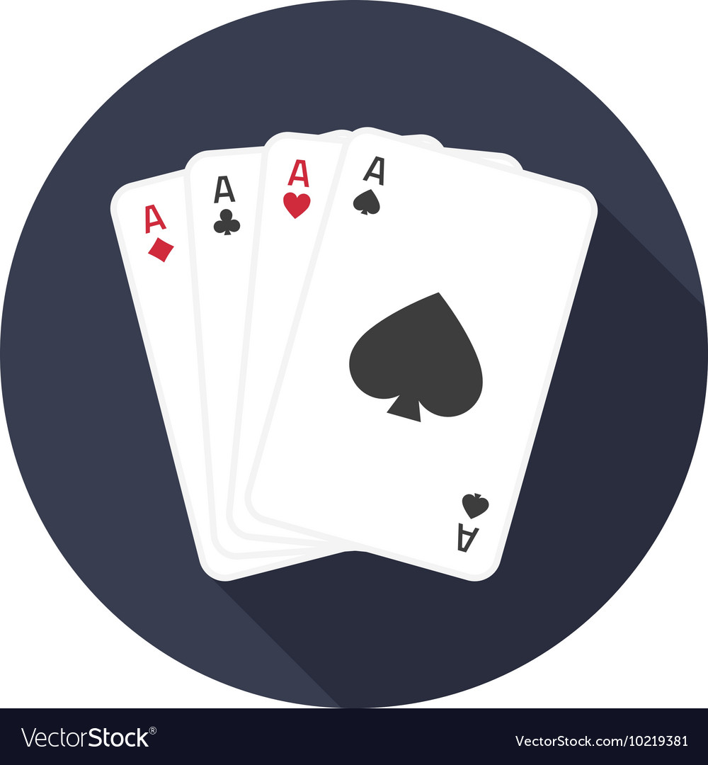 Four aces icon with shadow