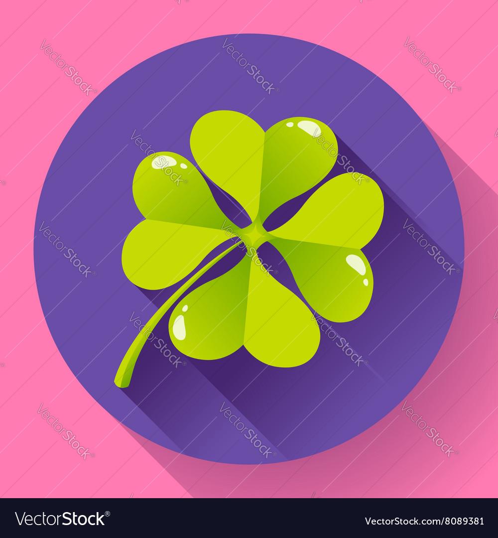 Four-leaf quatrefoil clover icon Flat design