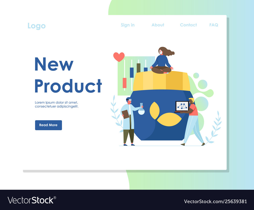 New product website landing page design