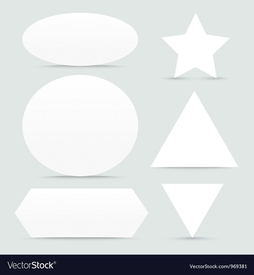 paper banner shapes set royalty free vector image