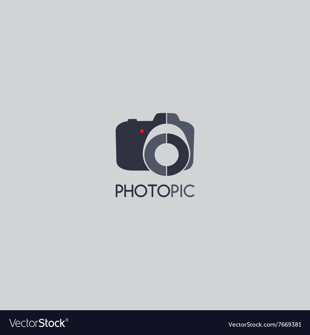 Photography Logo Template Theme Royalty Free Vector Image