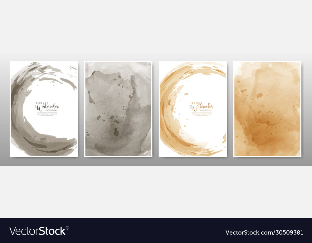 Set background watercolor earth tone